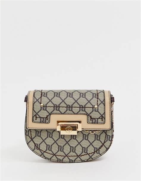 river island monogram belt bag asos