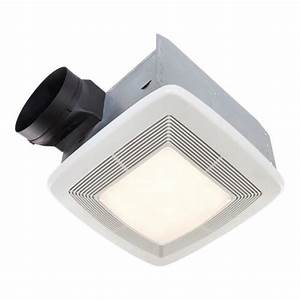 Broanr quiet ceiling bath fan with light and night light for Best quiet bathroom exhaust fan