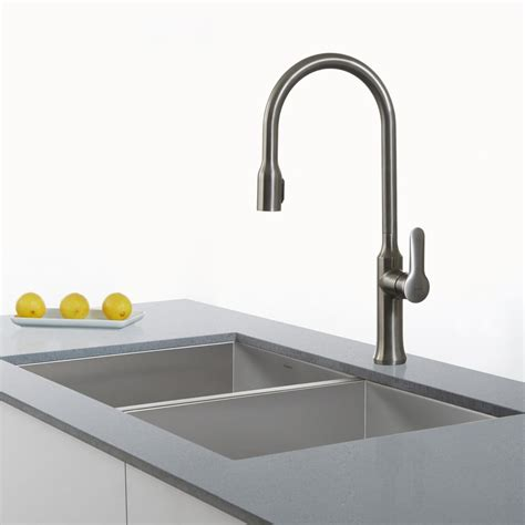 reach kitchen faucet kraus kpf1660x single lever concealed pull kitchen