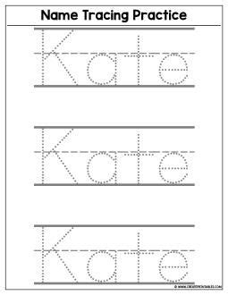 custom name tracing worksheet preview create custom printables worksheets preschool age