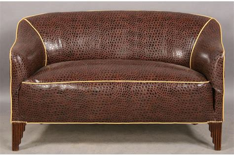 Deco Settee by Deco Settee Sofa Upholstered Alligator