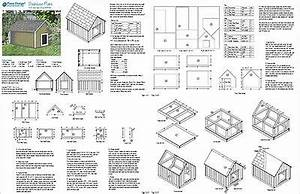 Dog house plans build a dog house with one of these free for Large dog house blueprints