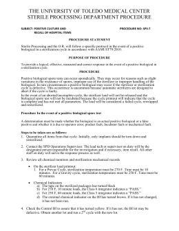 Sample Policy & Procedure 1492V BI IUSS