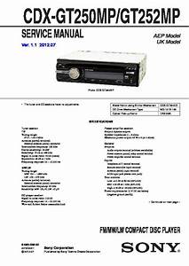 Sony Cdx-gt250m Service Manual