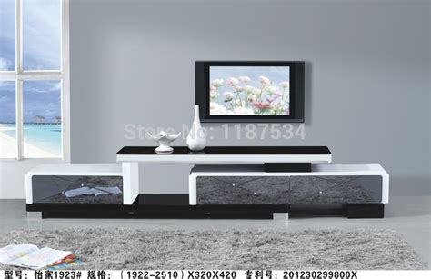 32019 modern furniture simple 1923 living room wooden glass stretch tv stand modern