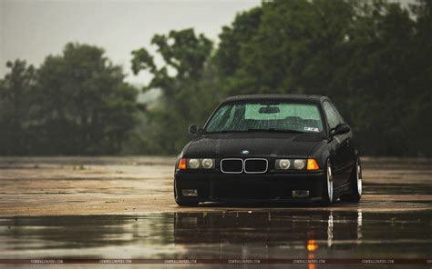 bmw   black car rain wallpaper cars hd wallpapers
