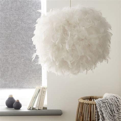lustre en plume suspension nature kokot plumes blanc opale 1 x 15 w corep leroy merlin