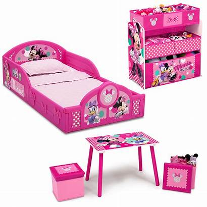 Minnie Mouse Bedroom Toddler Bed Disney Organizer