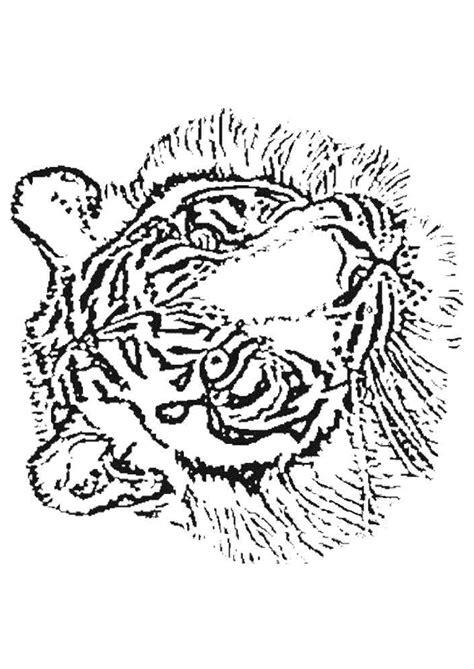 Kleurplaat Tijgerkop by Coloriage Tigre Coloriage Sur Hugolescargot
