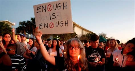 Grasp your handgun firmly and pick your target. At Vigil for Florida Shooting Victims, Those Closest to Attack Demand Strict Gun Control ...