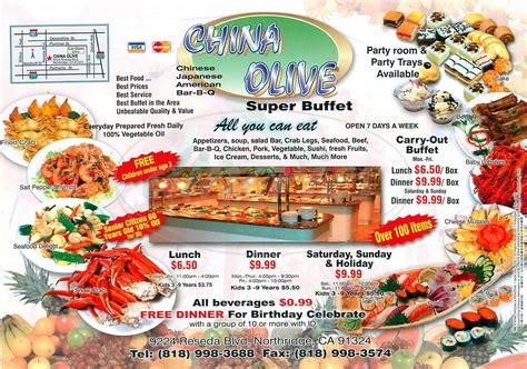 China Olive Menu Northridge Dineries