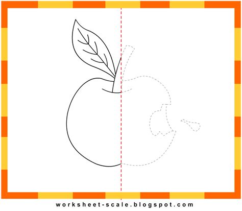free printable drawing worksheets for apple worksheet