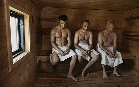 boys in sauna saunas protect middle aged men against heart attacks telegraph