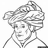 Turban Colorear Para Eyck Arte Van Jan Coloring Artistas Dibujos Gotico Colouring Laminas Obras Pequeños Láminas Sketch Niños Template Gótico sketch template