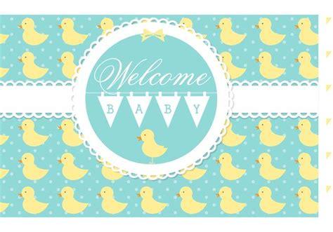 vector willkommen baby card  kostenlos