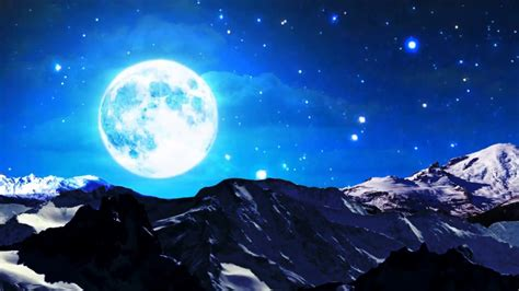 HD Full Moon Clouds Night Background Animated Video Free