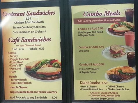 menu cuisine az fast food source fast food menus and blogs kneaders menu