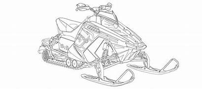 Coloring Pages Sheets Snowmobile