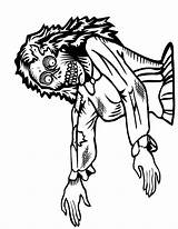 Coloring Pages Scary Monster Cliparts Halloween Adults Sheet Zombie Colorings sketch template