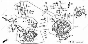 Honda Atv 2002 Oem Parts Diagram For Cylinder Head