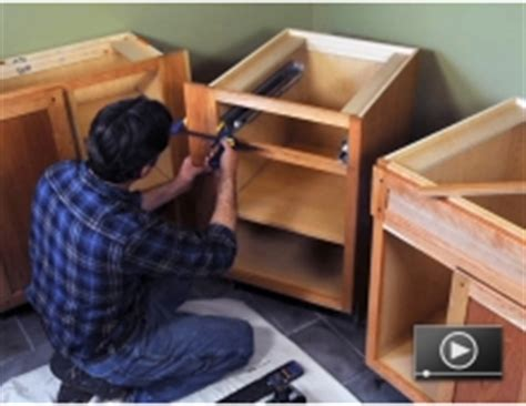 How To Install Base Cabinets how to install a solid surface kitchen countertop