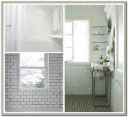 white beveled subway tile dark grout tiles home