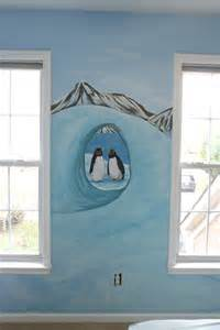 antarctica penguins room mural photos in