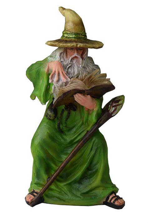 Wizard Figurine Green Cloak - Cleopatra Trading Limited