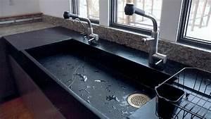 Evier Cuisine En Pierre : vier de cuisine en pierre id es en marbre quartz ou granit ~ Premium-room.com Idées de Décoration