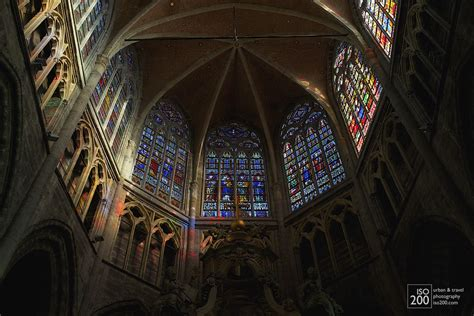 photo   apse  saint bravo cathedral ghent