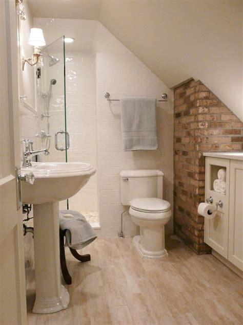 ideas for tiny bathrooms tiny attic bathroom ideas