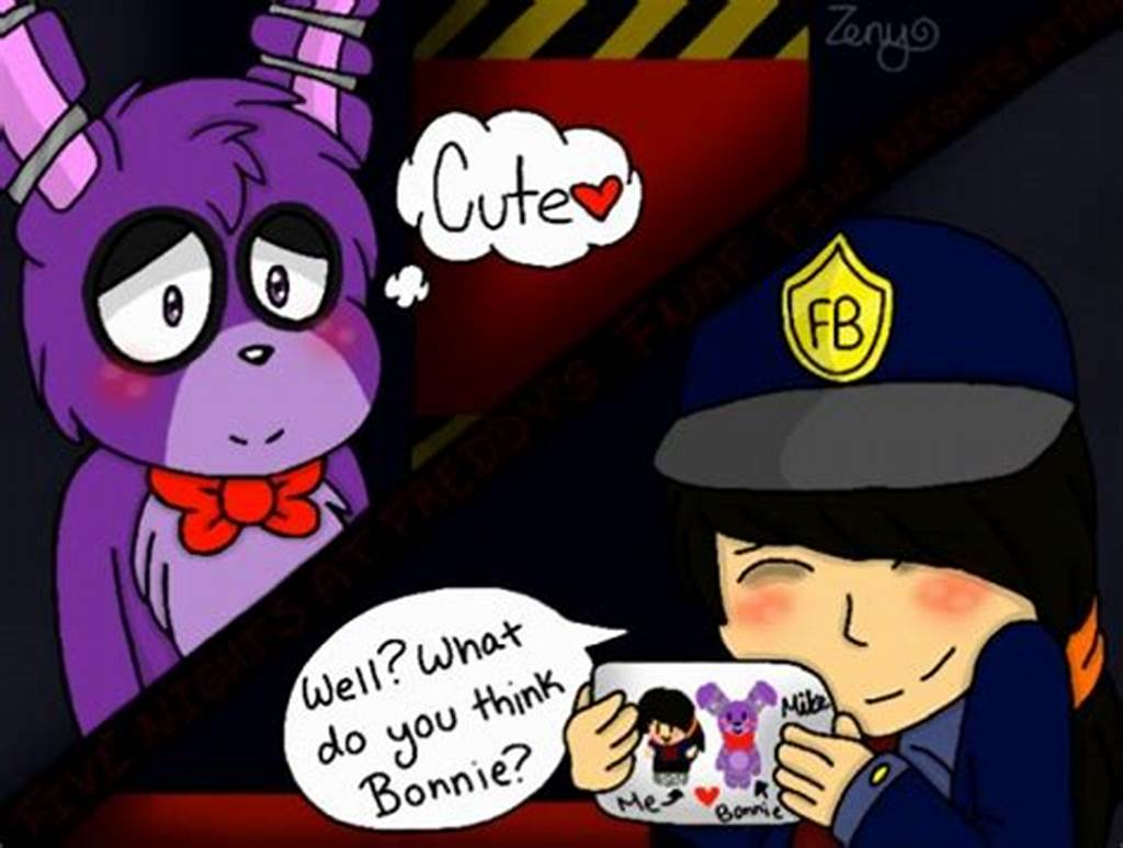 #Fnaf #Yaoi #Couple #Bonnie #X #Mike