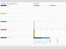 2017 A5 Size Weekly Planner Printable Pages INSTANT DOWNLOAD
