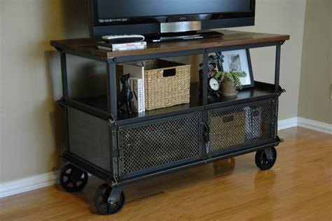 vintage media stand ellis media console vintage industrial furniture 3246