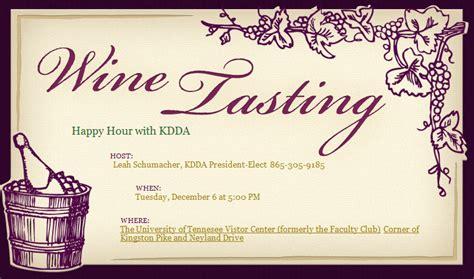 wine tasting invitation templates