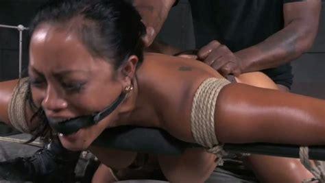 Sexy Gagged Bitch Enjoys Rough Doggystyle Sex In Bdsm Clip