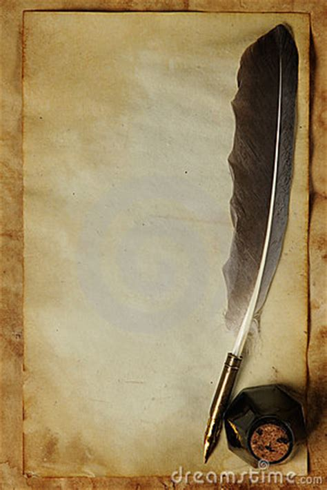 paper  quill ink stock images image