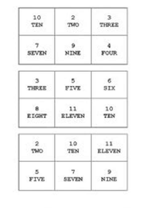 english teaching worksheets numbers bingo