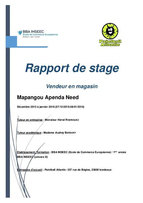 rapport de stage 3eme cuisine rapport de stage
