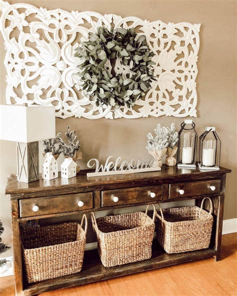 One person's idea of the perfect wall art will be totally different from the next, so focus on what you mix and match wall decorations for a custom look. Entryway wall decor image by Carmen Molina on decorating in 2020 | Home decor, Decor