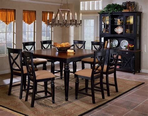 black dining room table hillsdale northern heights counter height dining table