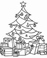 Coloring Christmas Tree Gift Pages Gifts Kindergarten Preschool Crafts Toddler Worksheets Comment sketch template