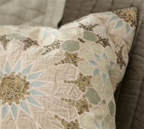 Embellished Beaded Pillow Covers Pottery Barn by Sofia Tile Sequined Embroidered Pillow Cover Pottery Barn