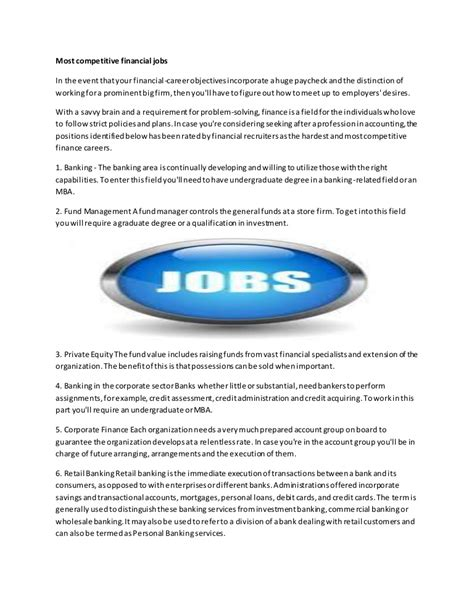 competitive financial jobs