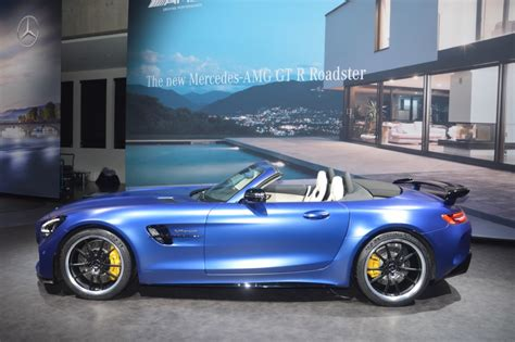 geneva motor show mercedes amg gt  roadster carsifu