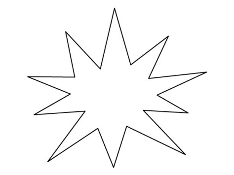 large star template   clip art carwadnet