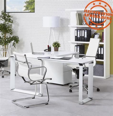 bureau de direction blanc bureau de direction design xline en bois blanc bureau droit