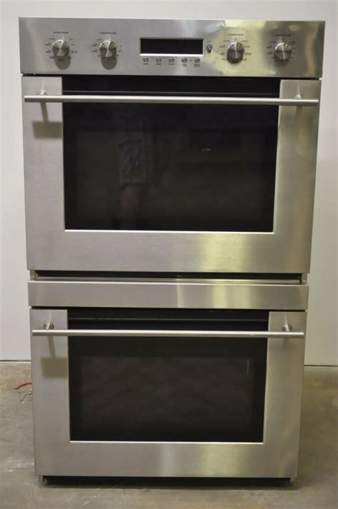 ge monogram zetsmss  stainless double electric convection wall oven  ebay