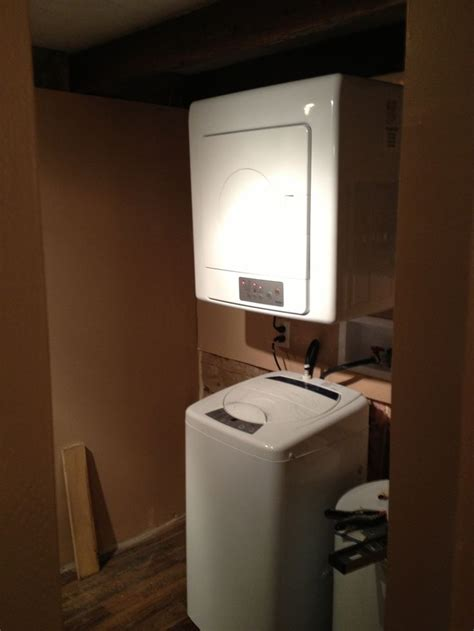 washer and dryer in closet our tiny house