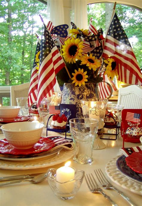 4th of july table centerpieces 4th of july party and table setting ideas
